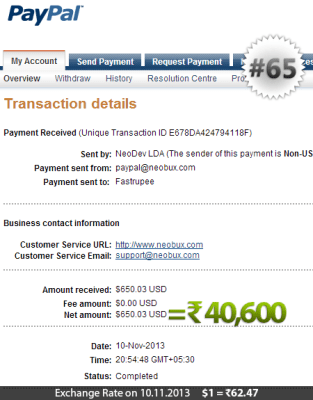 Neobux Payment Proof 65