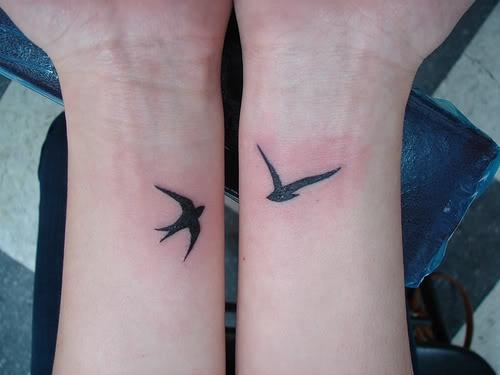 birds tattoo ideas on wrist