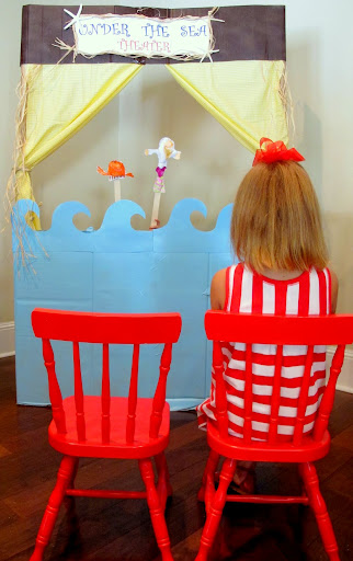 Under The Sea Cardboard Puppet Theater