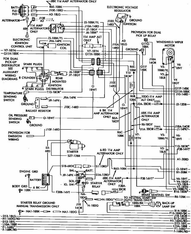 wiring diagram 84 dodge truck