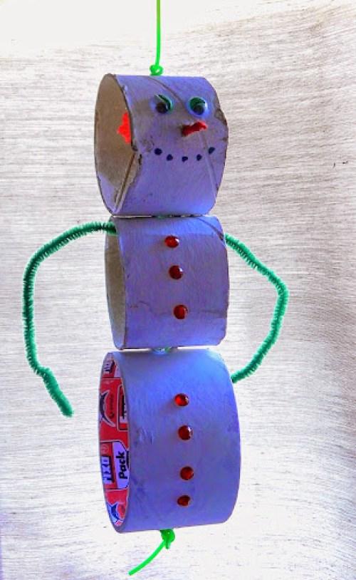 Sněhulák výroba děti tp rolky