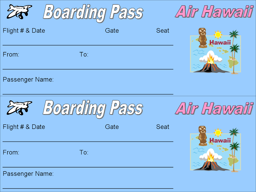 Printable Airline Ticket Template – Printable Fake Airline Tickets