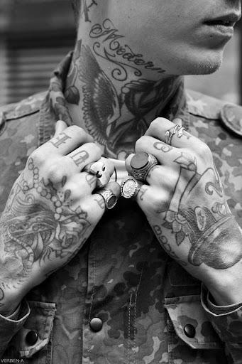 neck tattoo images for men