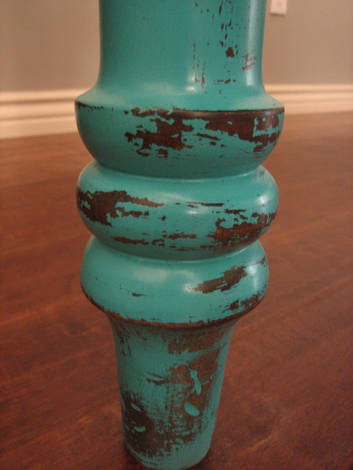 Bank Shabby Chic European Paint Finishes: ~rustic Turquoise Dining Table~