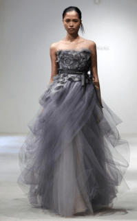 Vera Wang Gray Dress Wedding ~ WEDDING DRESS