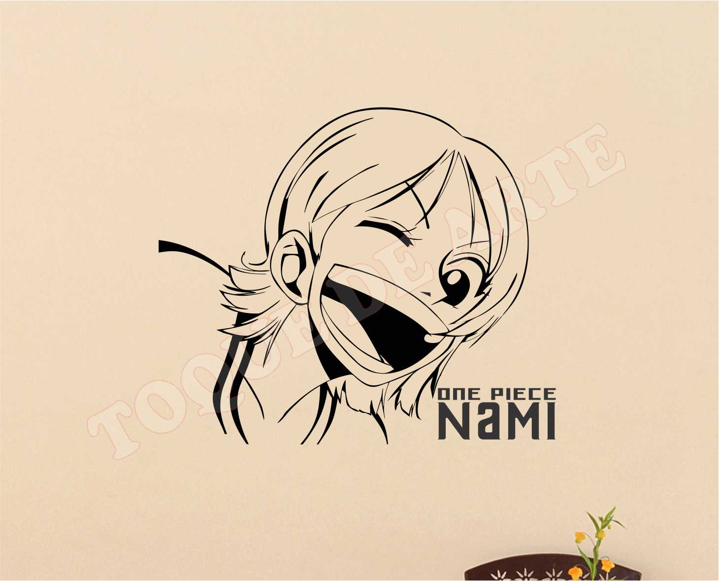 Piece Ad Toque De Arte Adesivos Decorativos Nami One Piece Ad