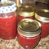 Quick and Easy Strawberry Rhubarb Freezer Jam