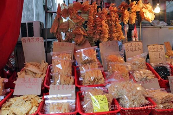 dried seafood sales tai-o fishing village, dried fish