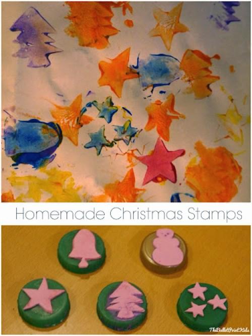 Vánoční razítka domácí výroba