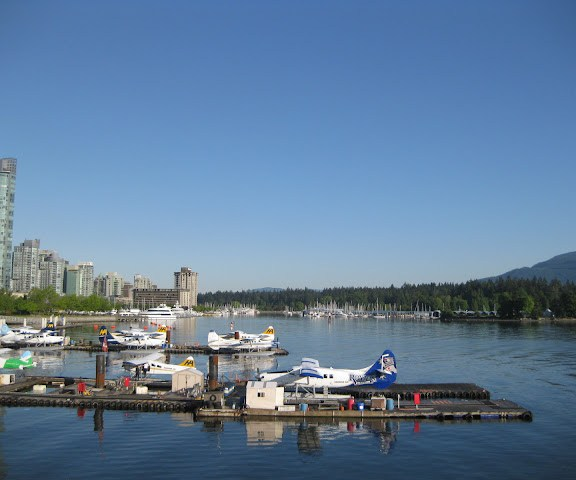 Vancouver floatplanes in Coal Harbour