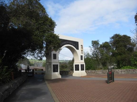 Entrance to Whakarewarewa village, Rotorua