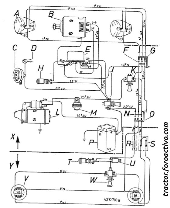 1996 honda civic Diagrama del motor