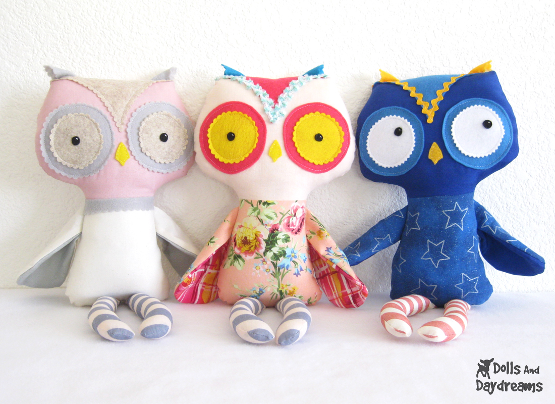 Stuff Owl Dolls And Daydreams Doll And Softie Pdf Sewing