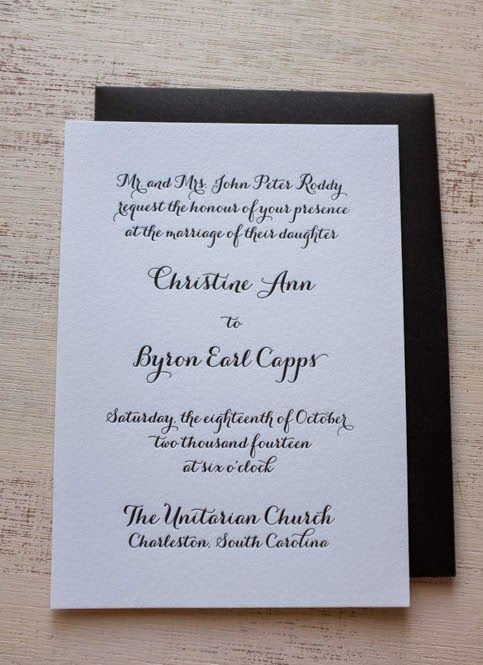 Wedding Reception Cards Archives - Custom Letterpress Wedding