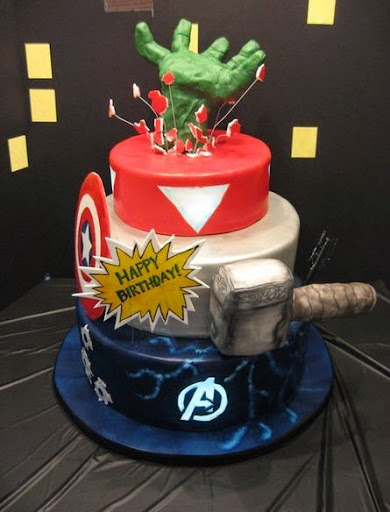Homemade Avengers Birthday Cake Image Inspiration of Cake and