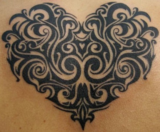 heart tribal tattoos