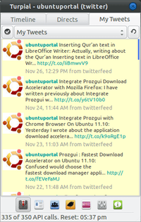 Turpial - ubuntuportal - Turpial : Microbloging Client for Twitter and Identi.ca - timeline
