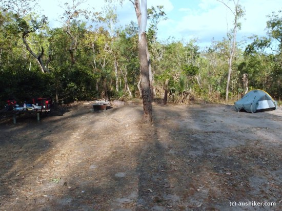 Camping at Rocky Falls campsite - Walker Creek - Litchfield National Park
