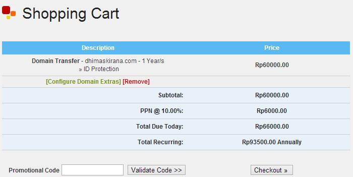 Shopping Cart Domain