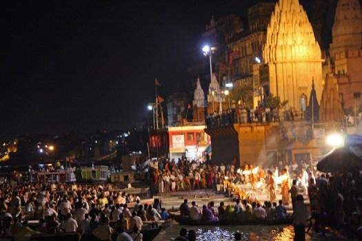 varanasi aarti at the main ghat