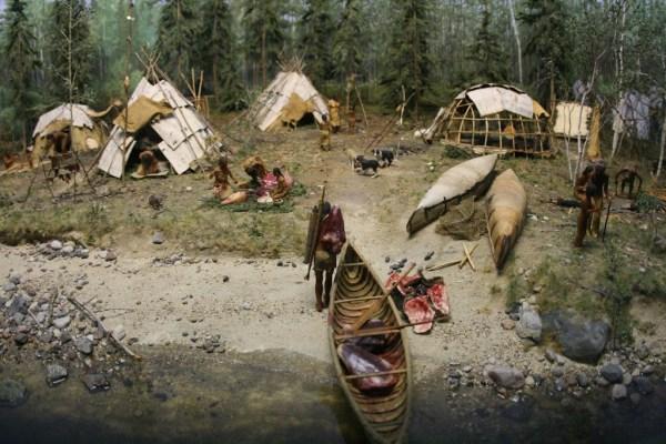 Über das Leben der Indianer gibt es im Museum viel zu erfahren