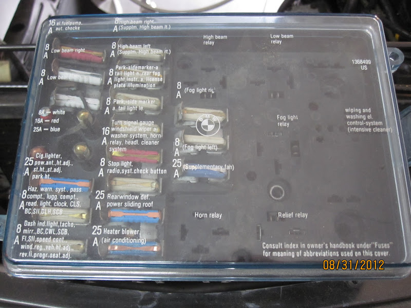 Fuse Box Swap Late E24 -\u003e E28 \u2022 MyE28
