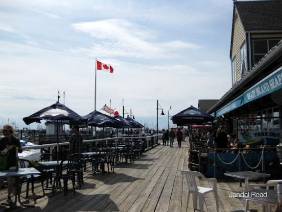 Steveston seaside promenade, Richmond, BC