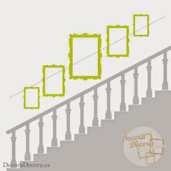 C mo colgar cuadros en una escalera for Cuadros para escaleras