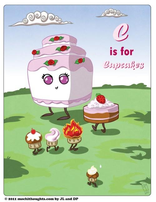 Cute Food Comic : Cupcake children!