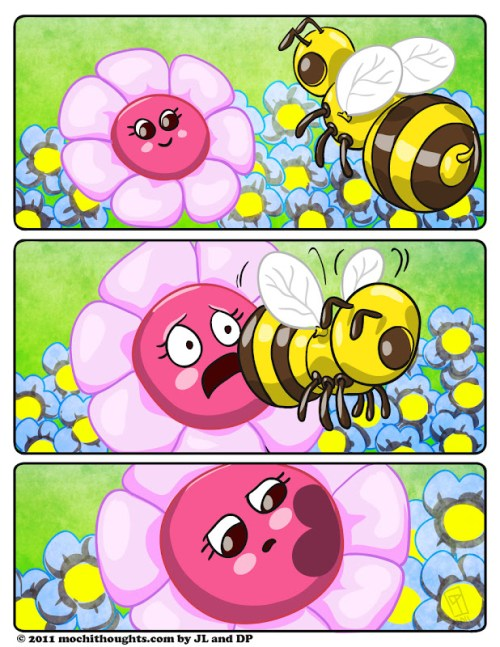 cute webcomic Flowers and The Bees, Flower Time