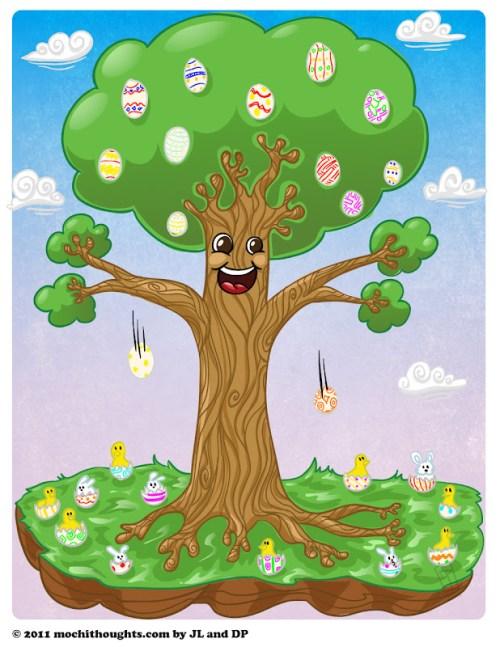 Cute Webcomic Easter Egg Tree.