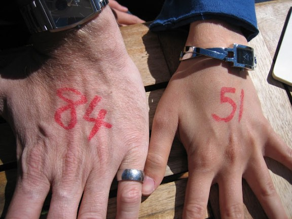 before you bungy jump, they'll write your weight onto the back of your hand