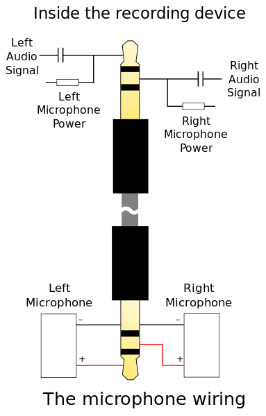microphone wiring connection