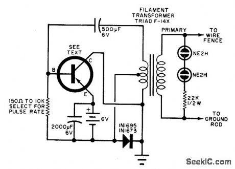 electric fence charger schematic electric fence