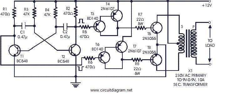 6 volt inverter circuit diagram