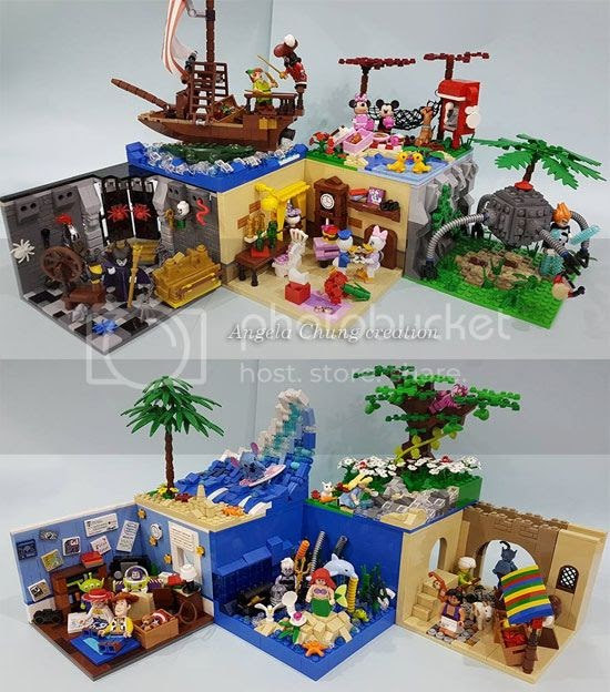 Pirates Of The Caribbean Slaapkamer Lego Disney Minifigure Moc Display Bases