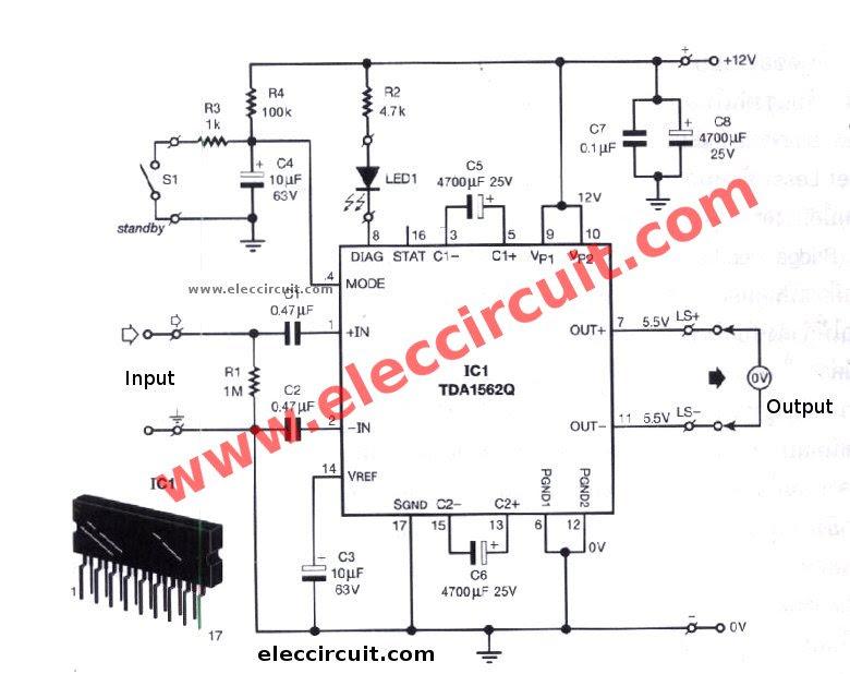50w circuits car subwoofer amplifier circuit wiring