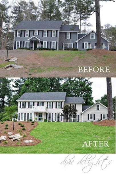 Exterior Curb Appeal Before After Dixie Delights