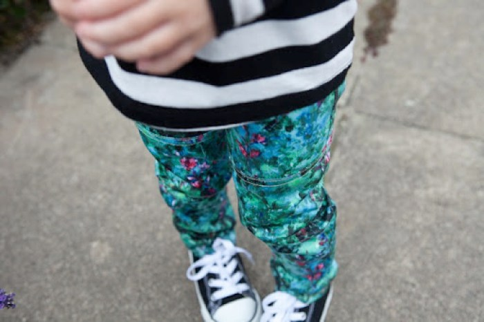 Watercolor Kudzu Skinnies  Our Family Four 27