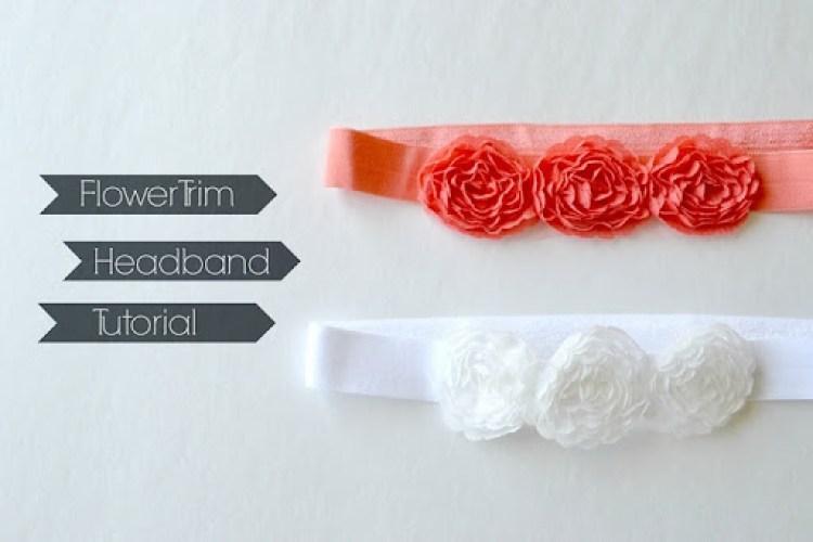 Flower Trim Headband Tutorial