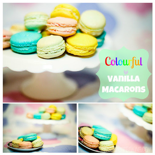 Colourful Vanilla Macarons