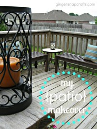 Ginger Snap Crafts: Patio Makeover {on a budget} #KmartOutdoor