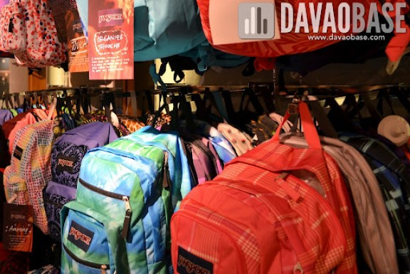 Colorful designs of Jansport bags in Bratpack Abreeza