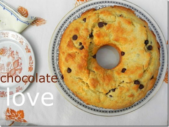 Chocolate Chip Ring Cake-Ciambellone con Gocce di Cioccolato-4