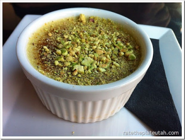 Black Sheep Cafe Pistachio Creme Brulee