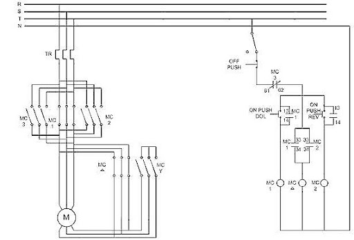 single starter circuit diagram
