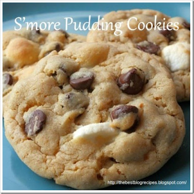 S'more Pudding Cookie from {The Best Blog Recipes}