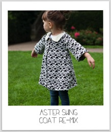 Aster Re Mix Swing Coat  Our Family Four 26