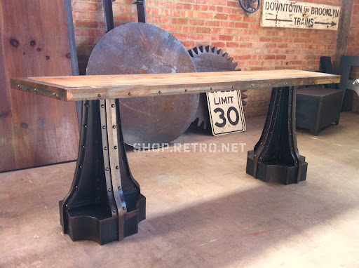Shabby chic vintage industrial furniture