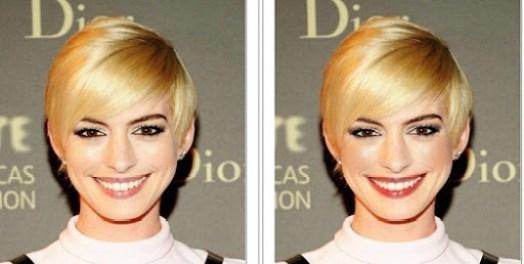 Anne Hathaway, antes e depois, loira, análise de cores